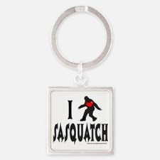 I HEART SASQUATCH T-SHIRTS AND GIF Square Keychain