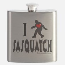 I HEART SASQUATCH T-SHIRTS AND GIFTS Flask