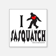 "I HEART SASQUATCH T-SHIRTS  Square Sticker 3"" x 3"""