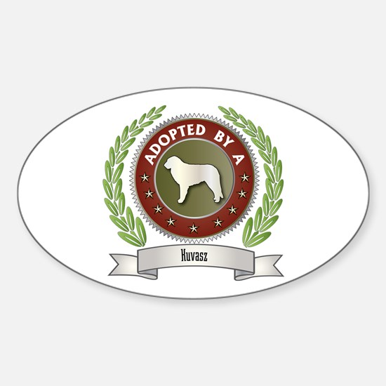 Kuvasz Adopted Oval Decal