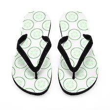 Cucumber Slice Pattern. Flip Flops