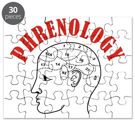 Phrenology head chart Puzzle