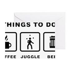 Juggling-ABH1 Greeting Card