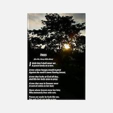 Trees by Joyce Kilmer Rectangle Magnet