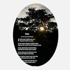 Trees by Joyce Kilmer Oval Ornament