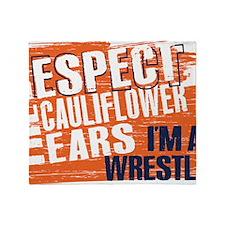 Respect Cauliflower Ears Throw Blanket