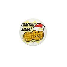 Crackin Christmas Mini Button