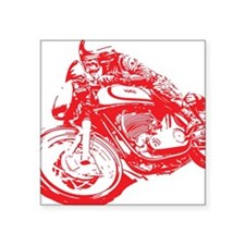 "Norton Cafe Racer Square Sticker 3"" x 3"""