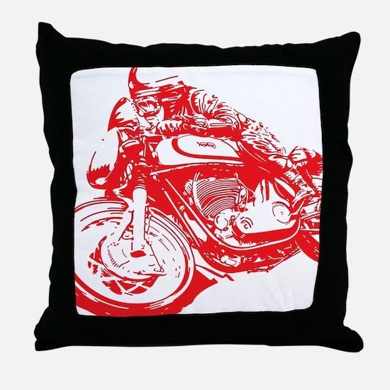 Norton Cafe Racer Throw Pillow