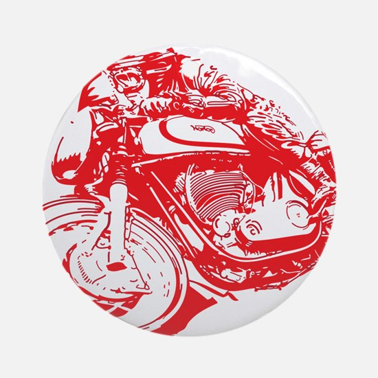Norton Cafe Racer Round Ornament