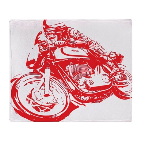 Norton Cafe Racer Throw Blanket