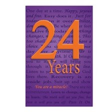 24 Year Recovery Birthday Postcards (Package of 8)