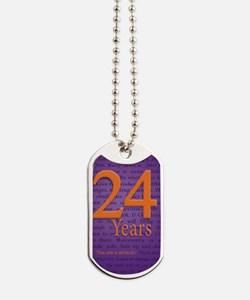 24 Year Recovery Birthday - Miracle Dog Tags