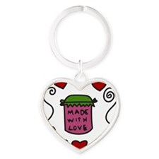 Made With Love Heart Keychain