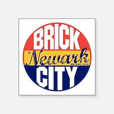 "Newark Vintage Label B Square Sticker 3"" x 3"""