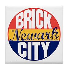 Newark Vintage Label B Tile Coaster
