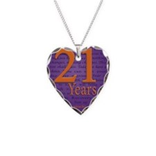 21 Year Birthday - Miracle Necklace Heart Charm