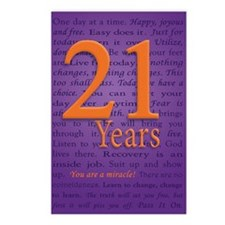 21 Year Birthday - Miracl Postcards (Package of 8)