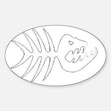 Fish Bones Skeleton Sticker (Oval)