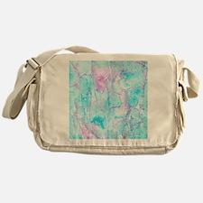 Electric Blue Mist 1 Messenger Bag
