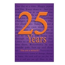 25 Year Recovery Birthday Postcards (Package of 8)