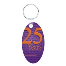 25 Year Recovery Birthday Keychains