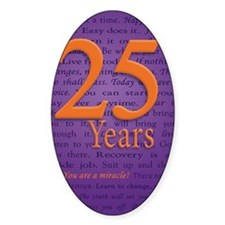 25 Year Recovery Birthday Decal