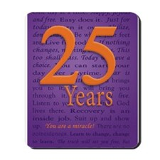 25 Year Recovery Birthday Mousepad