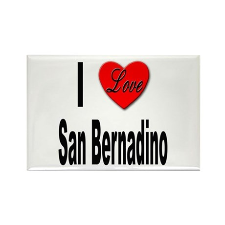 I Love San Bernadino Rectangle Magnet (10 pack)