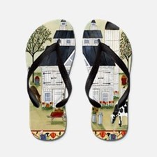 daily bread square Flip Flops