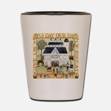 daily bread square Shot Glass