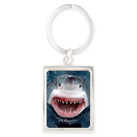 great white shark Portrait Keychain