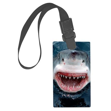 great white shark Large Luggage Tag