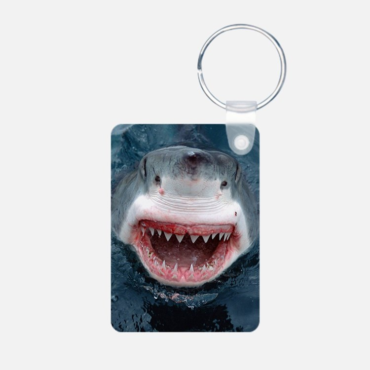 great white shark Keychains