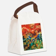 Flying Kites At The Beach 3 Canvas Lunch Bag