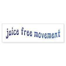 Juice Free Movement Bumper Bumper Sticker