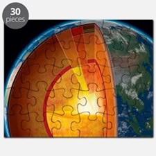 Earth's internal structure, artwork Puzzle