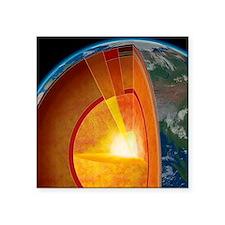 "Earth's internal structure, Square Sticker 3"" x 3"""