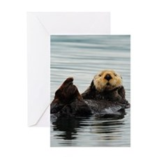 ipadMini_Otter_8 Greeting Card