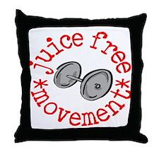 Juice Free Movement Throw Pillow