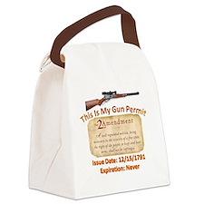 My Gun Permit Canvas Lunch Bag
