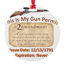 My Gun Permit Ornament