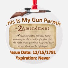 My Gun Permit Ornament