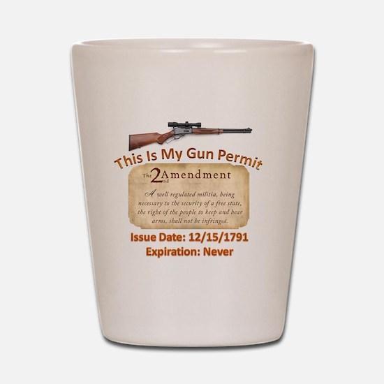 My Gun Permit Shot Glass