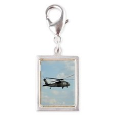 ipadMini_Helicopter_1 Silver Portrait Charm