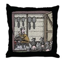Angry Racoons Throw Pillow