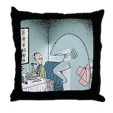 Angry Fin-less Shark Throw Pillow