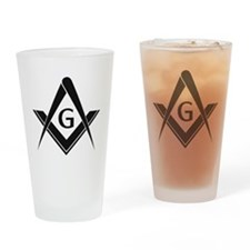Square and Compass Drinking Glass
