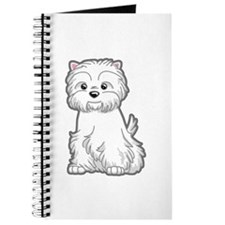 Cute Westie Dog Journal