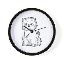 Cute Westie Dog Wall Clock